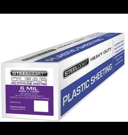 Petoskey Plastics Clear Poly - 6 Mil - 10' x 100'