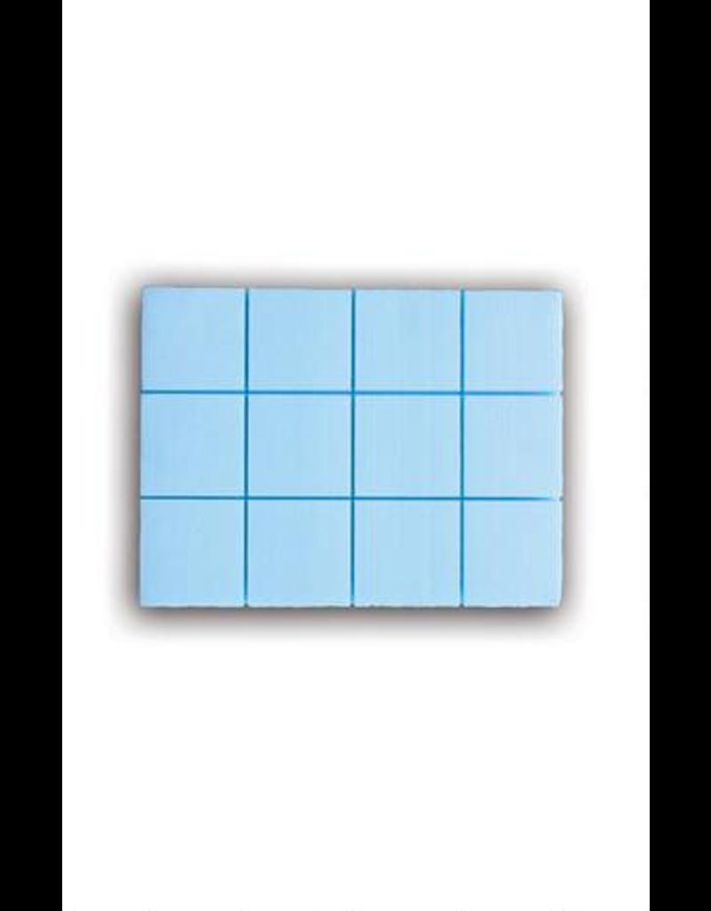 CleanHub Blocks - Blue Foam 1 Sheet (84 Individual Blocks)