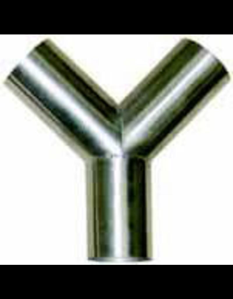 """Production Metal Forming 2"""" """"Y"""" Vacuum hose connector"""