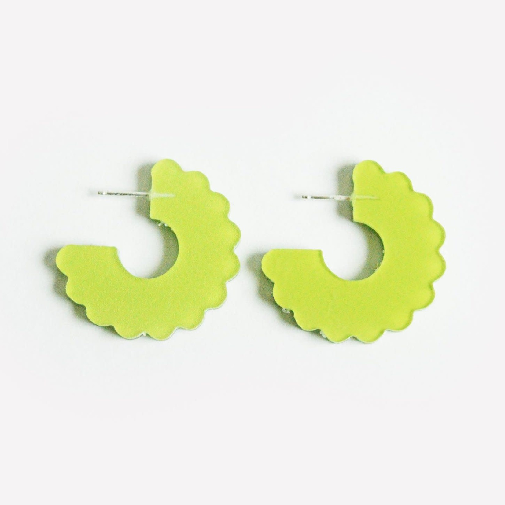 Dconstruct Small Scallop Hoop Chartreuse