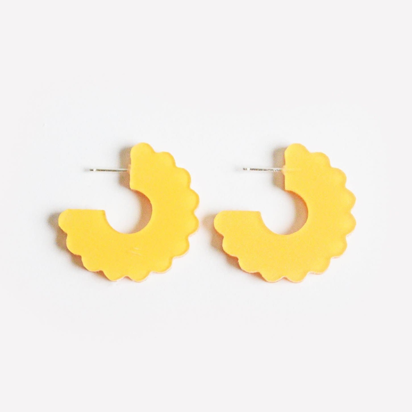 Dconstruct Small Scallop Hoop Yellow