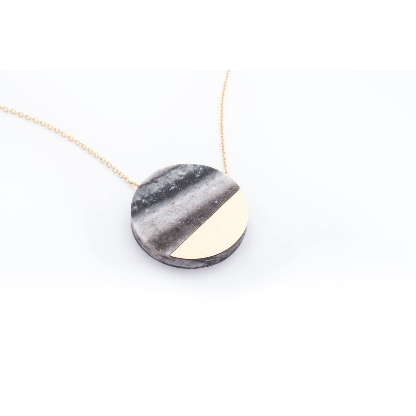 """Dconstruct Corian Sector Necklace 16"""" Marble"""