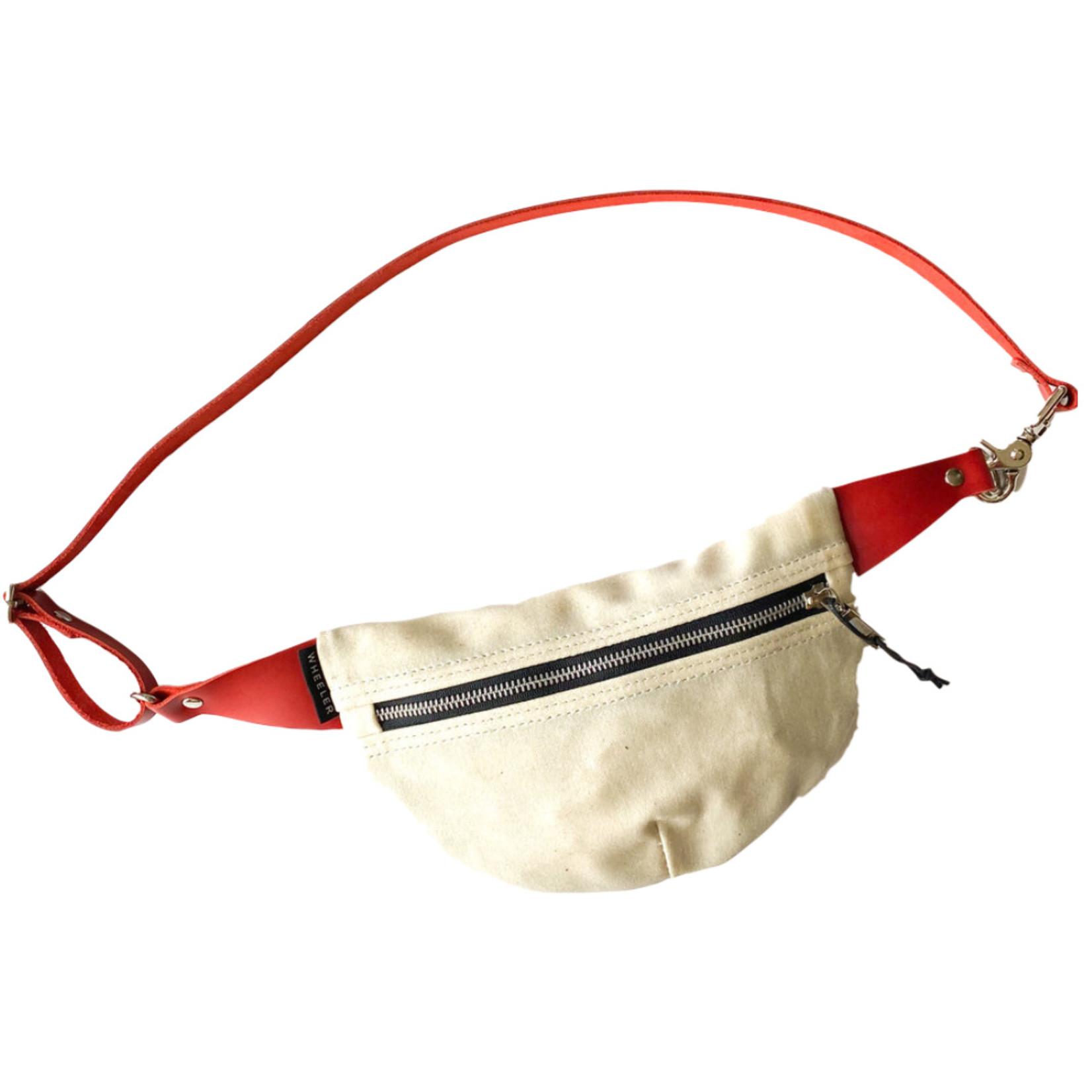 Wheeler Bag Co. Fanny Pack Natural/Red