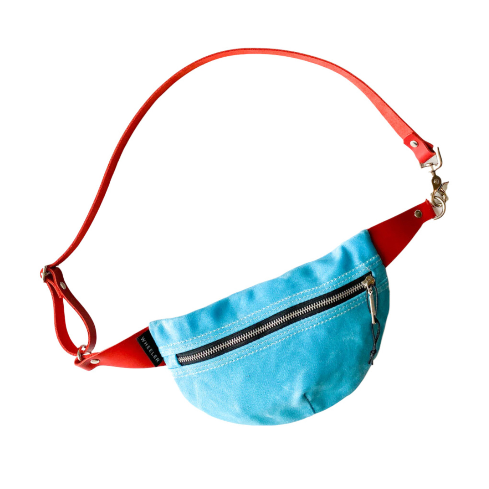 Wheeler Bag Co. Fanny Pack Turquoise/Red