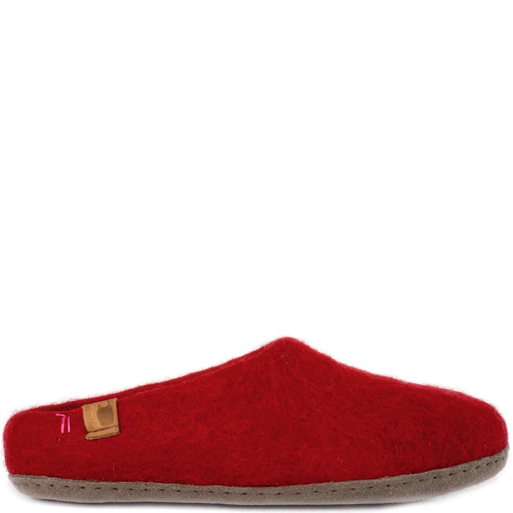 Baabushka Wool Slippers Red
