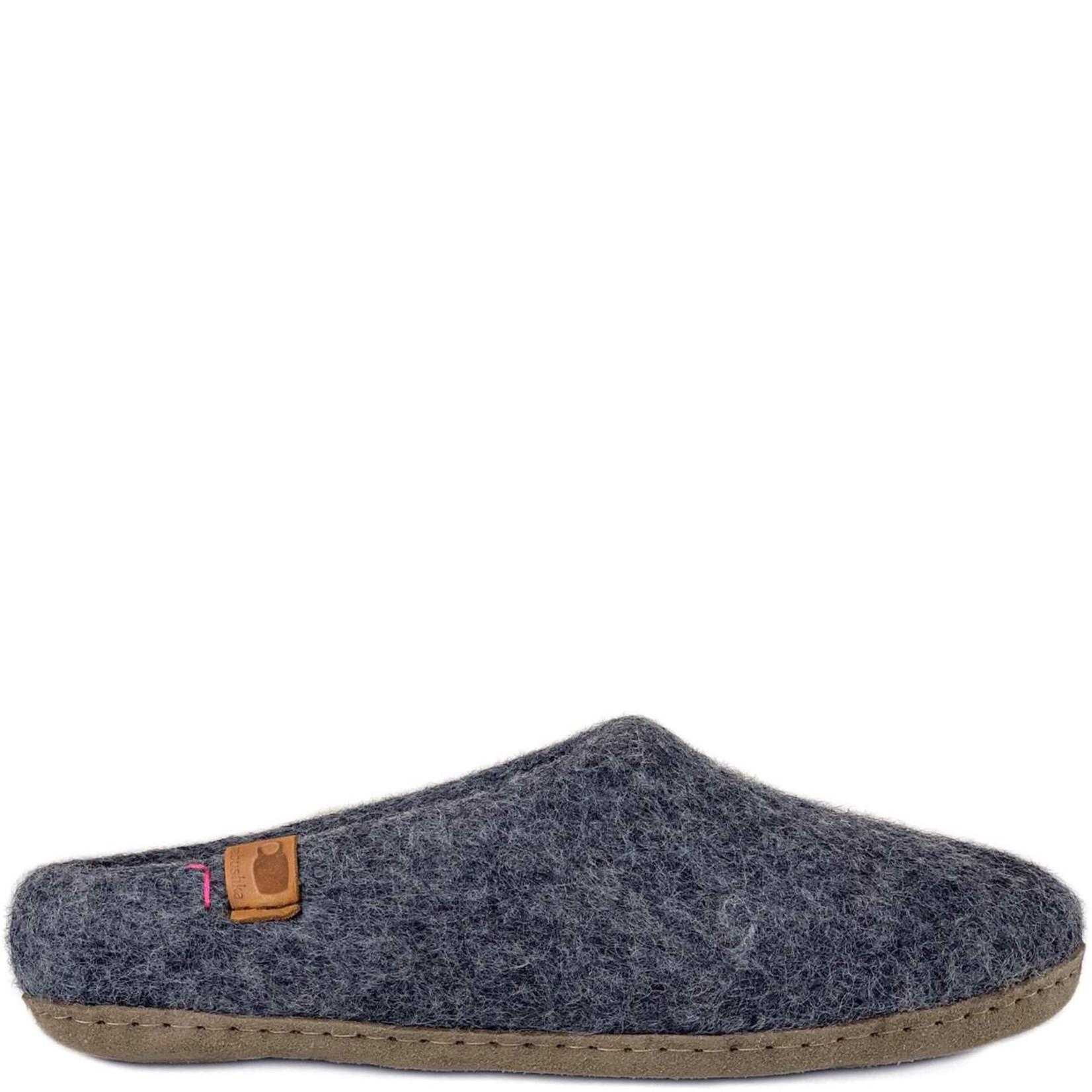 Baabushka Wool Slippers Gray