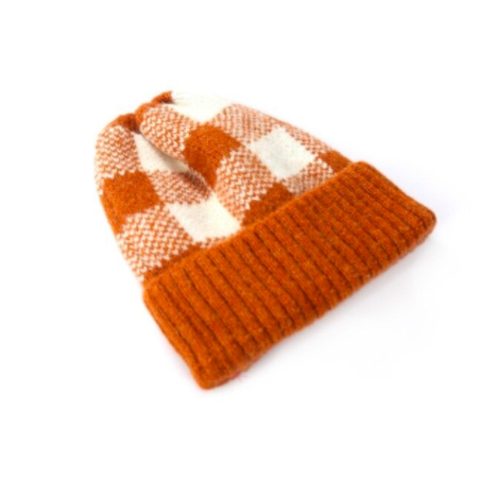 Rainbow Unicorn Sam Knit Beanie Burnt Orange