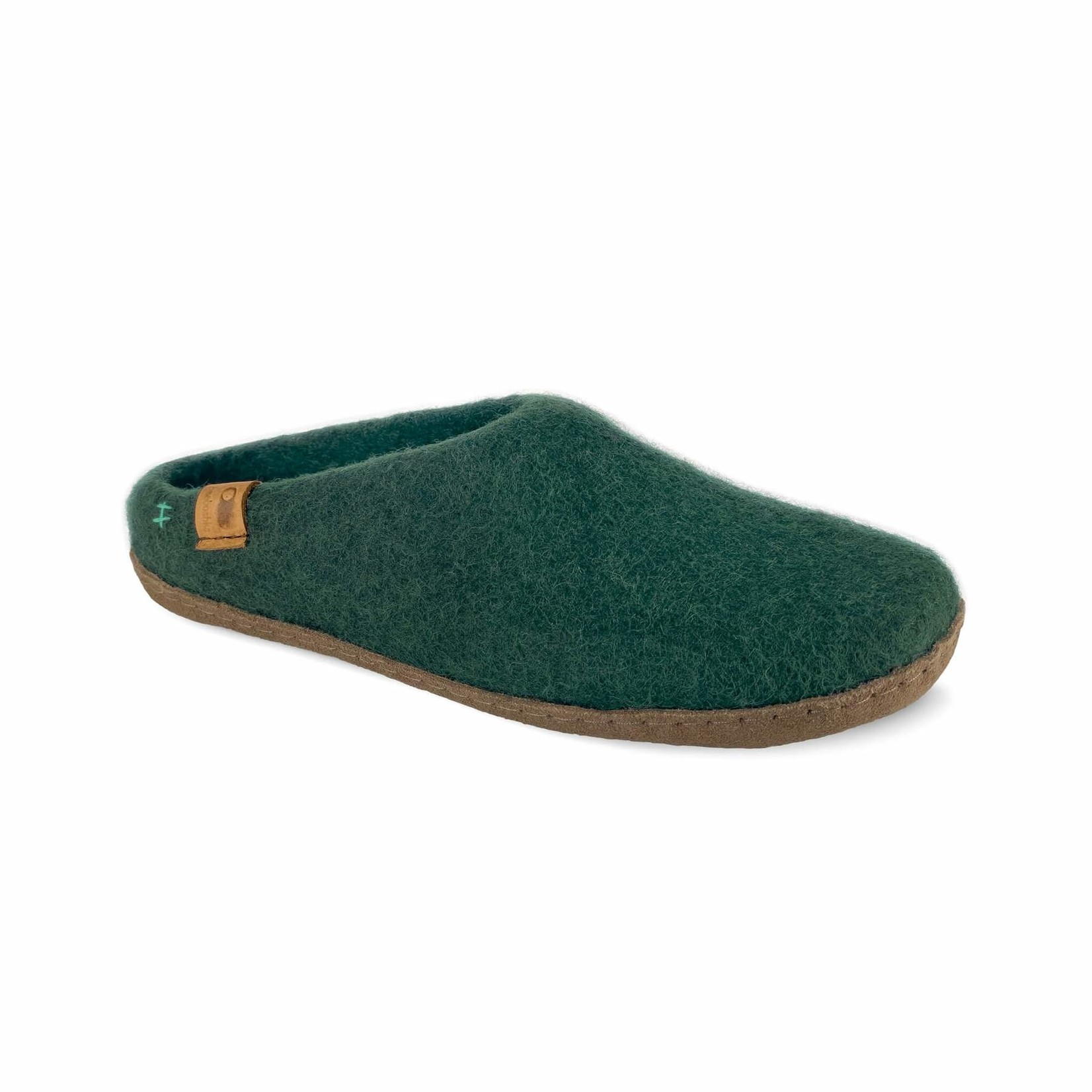 Baabushka Wool Slippers Green