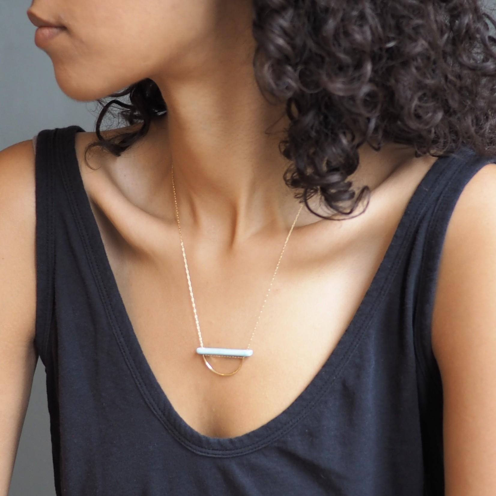 Britta Ambauen Strata Necklace Mint
