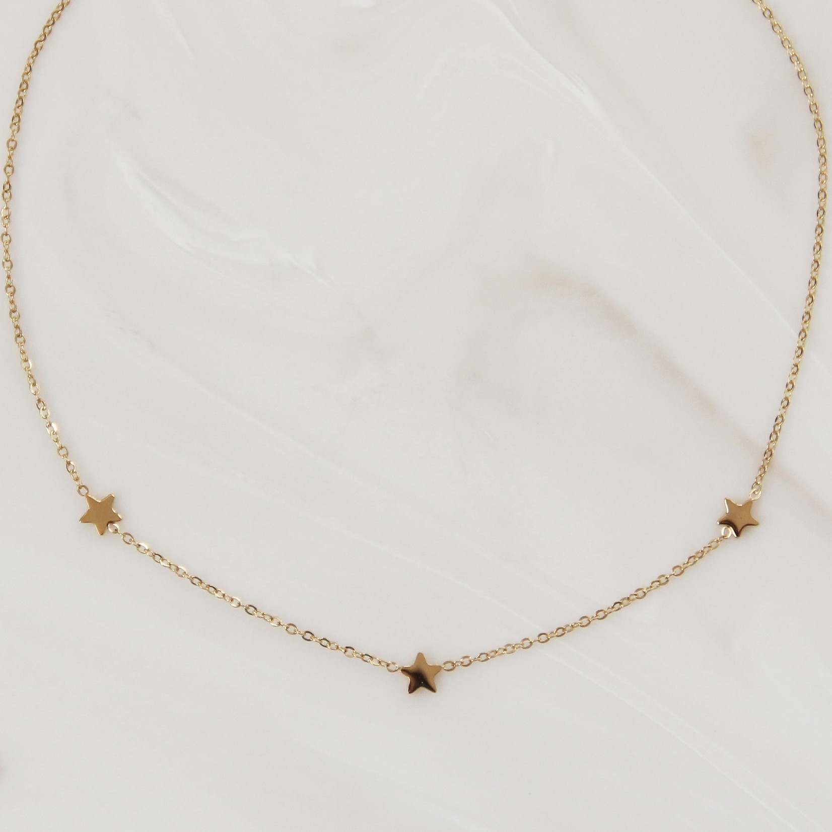 Maive Three Star Necklace
