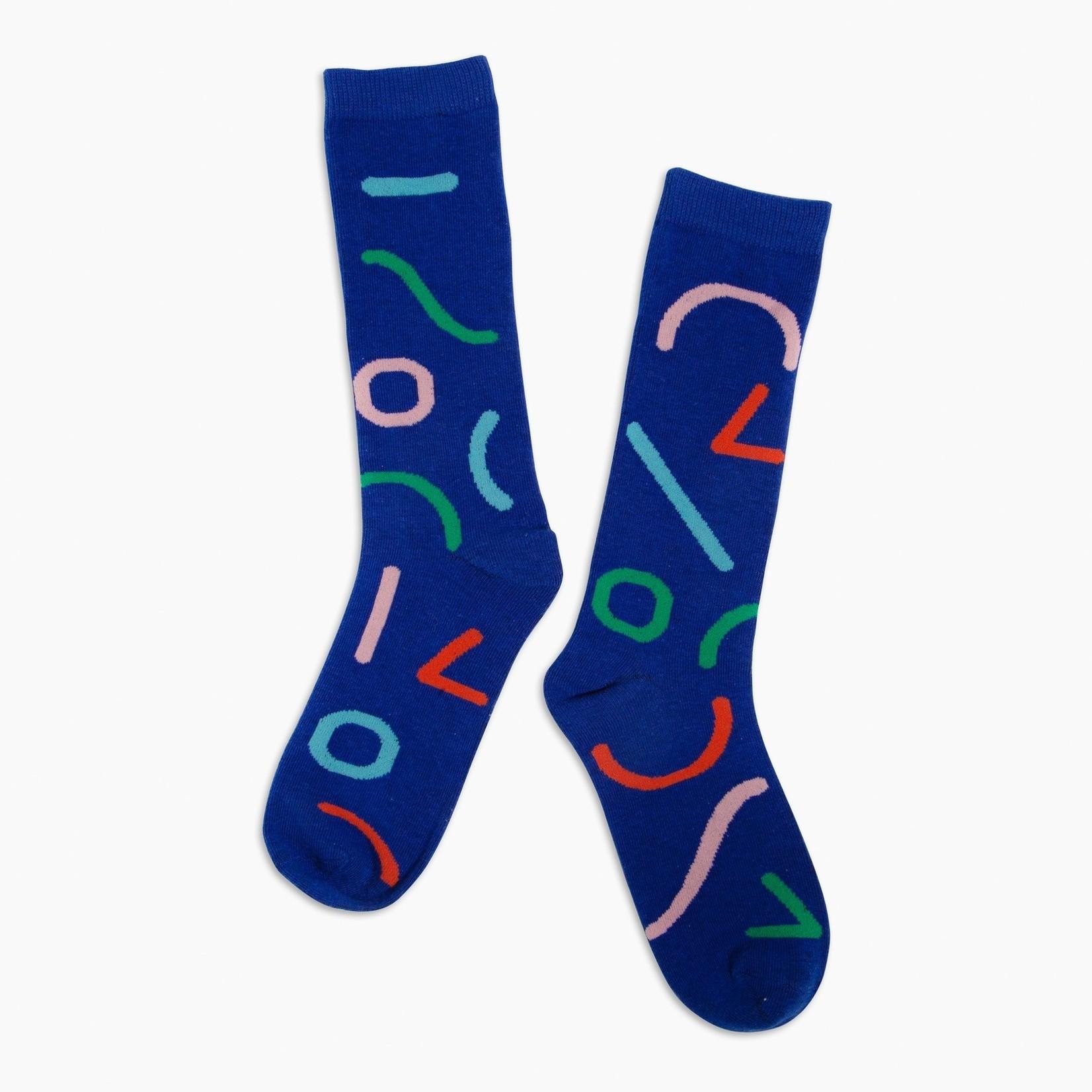 Poketo Crew Socks Outline