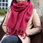 Lisa Angel Recycled Oversized Scarf Deep Red