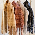 Ellison and Young Tweed Fringed Scarf