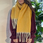 Ellison and Young Color Punch Scarf Mustard