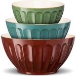 FK Living Kook Ceramic Nesting Bowls , Set of 3