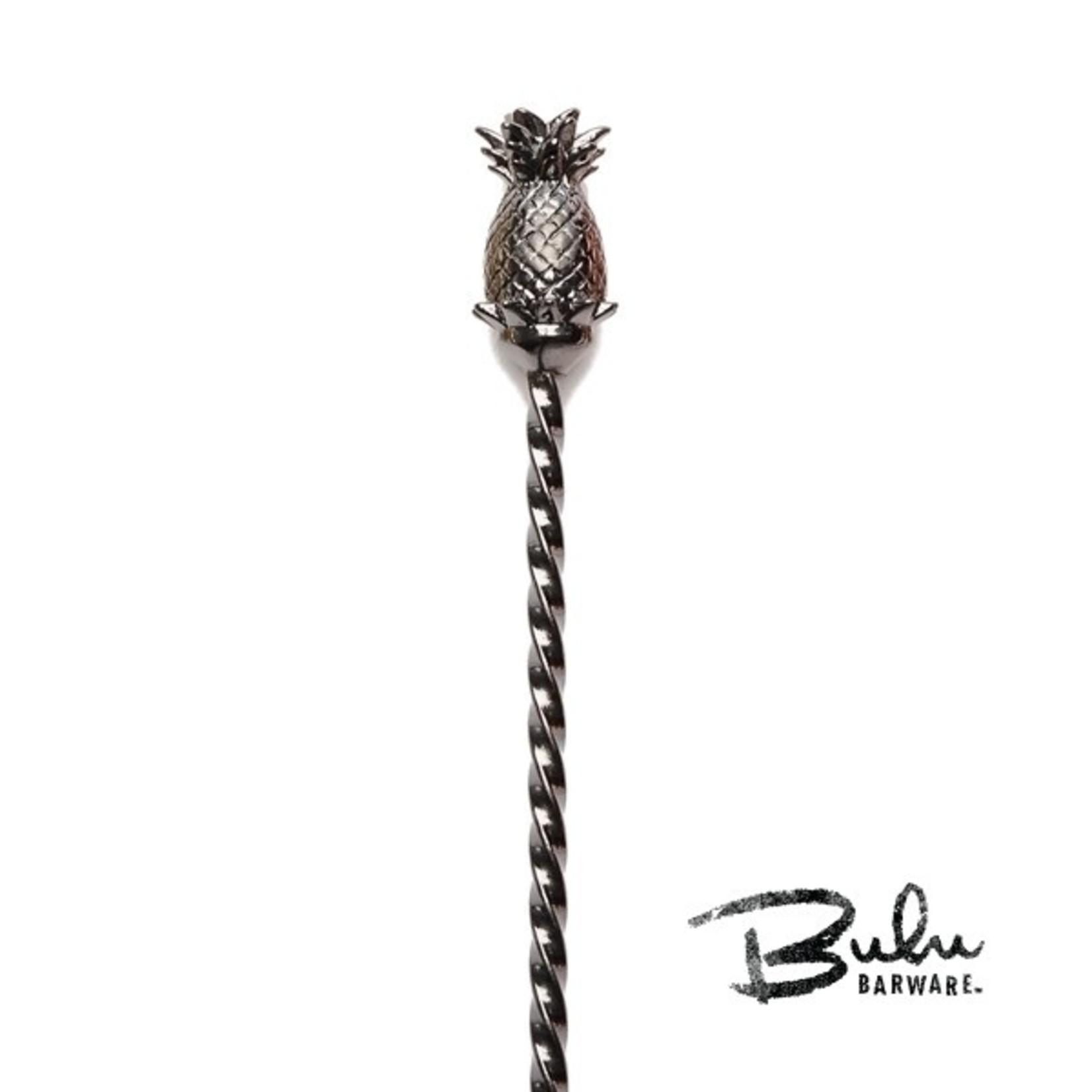 Cocktail Kingdom Bulu Pineapple Barspoon Gunmetal