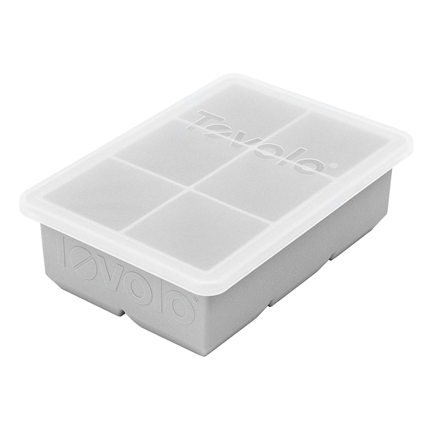 Tovolo King Cube Ice Tray with Lid Oyster Grey