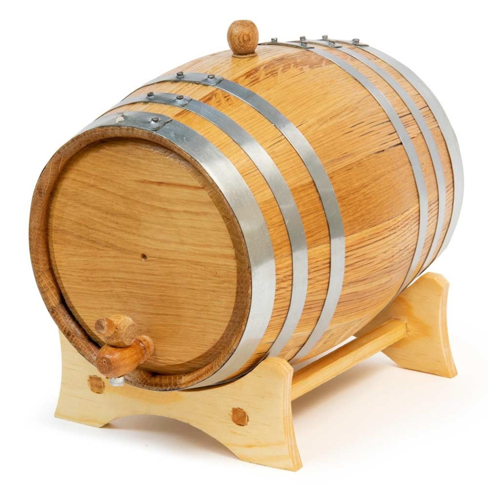 Oak Barrel 5 Litre Steel
