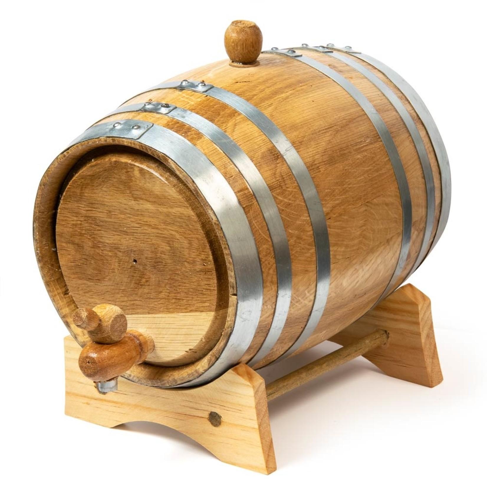 Oak Barrel 3 Litre Steel