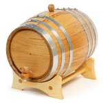 Oak Barrel 10 Litre Steel