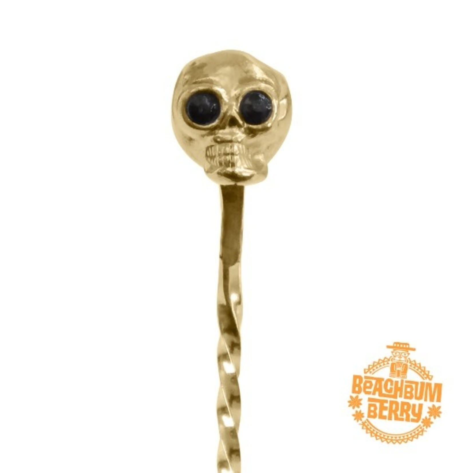 Cocktail Kingdom Skull Barspoon Gold