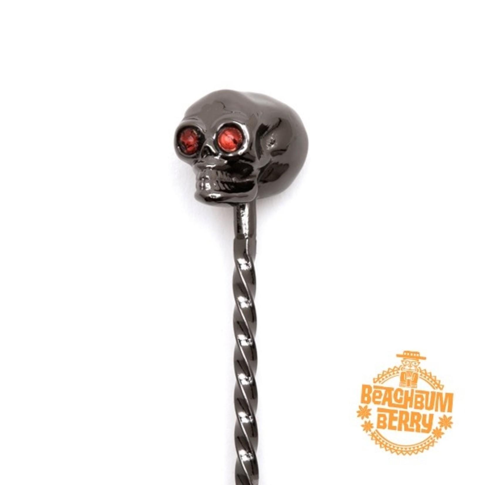 Cocktail Kingdom Skull Barspoon Gunmetal