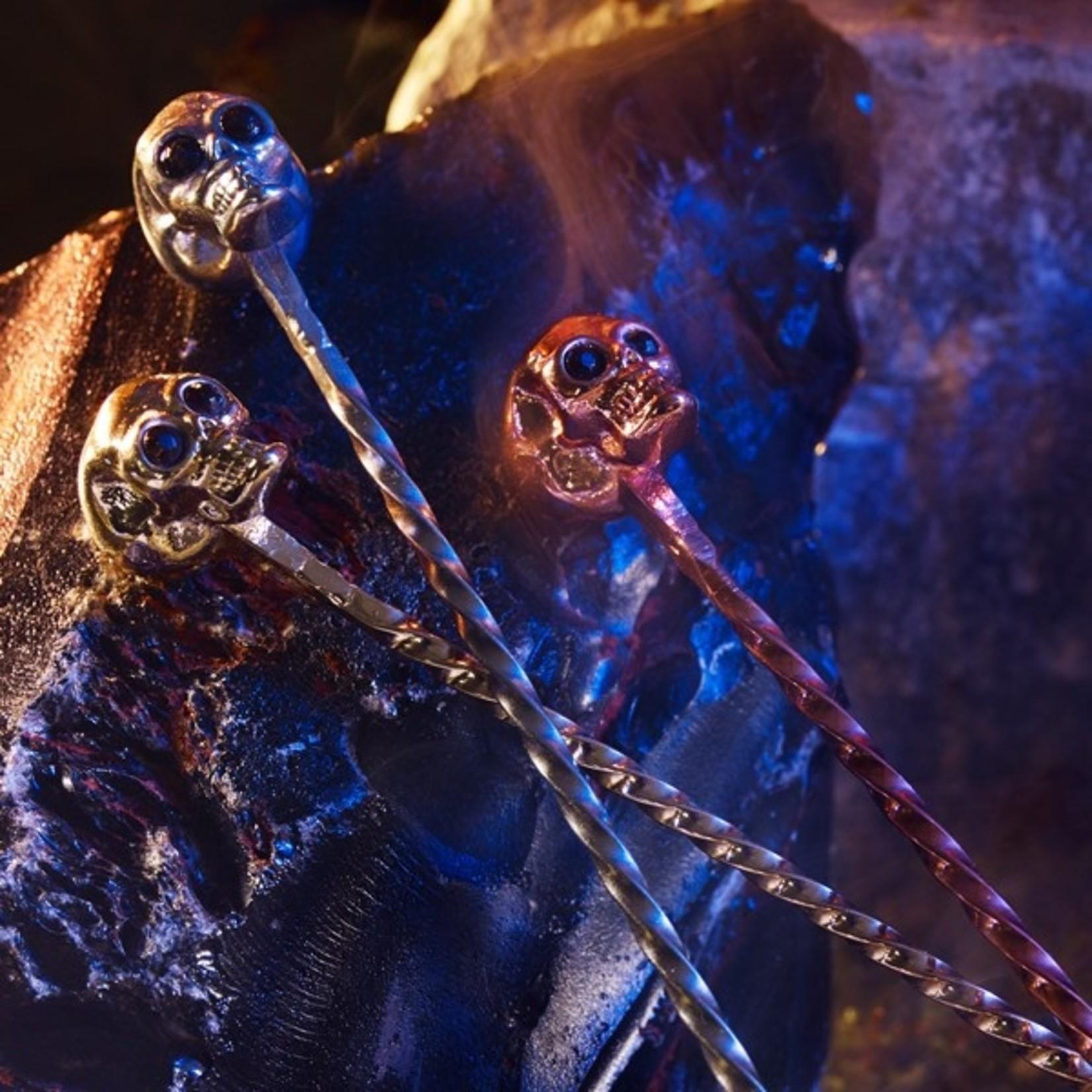 Cocktail Kingdom Skull Barspoon Copper
