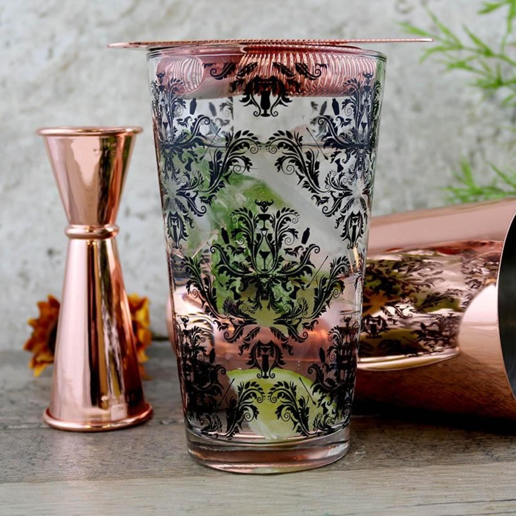 Mixing Glass Damask