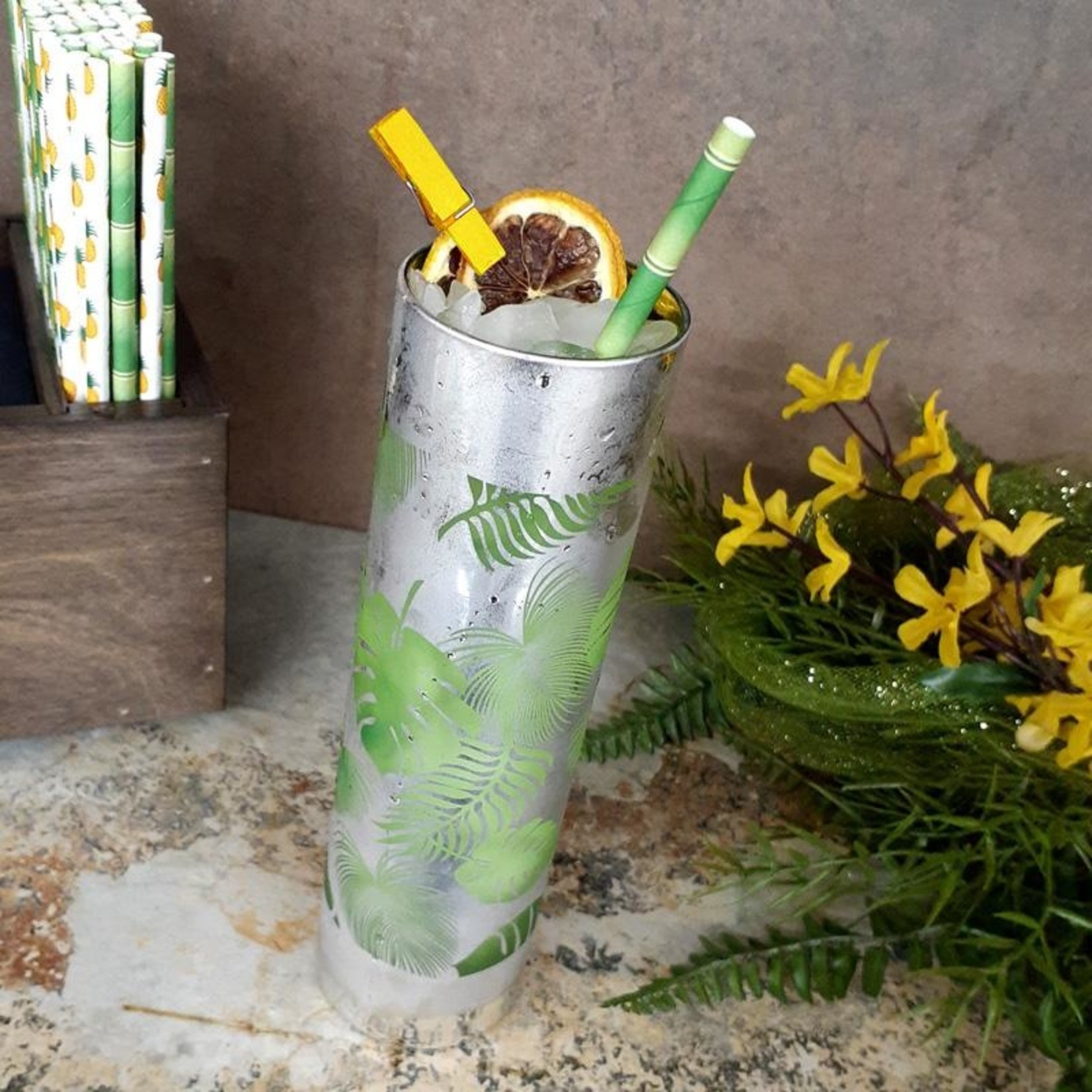 Tropical Collins Glass