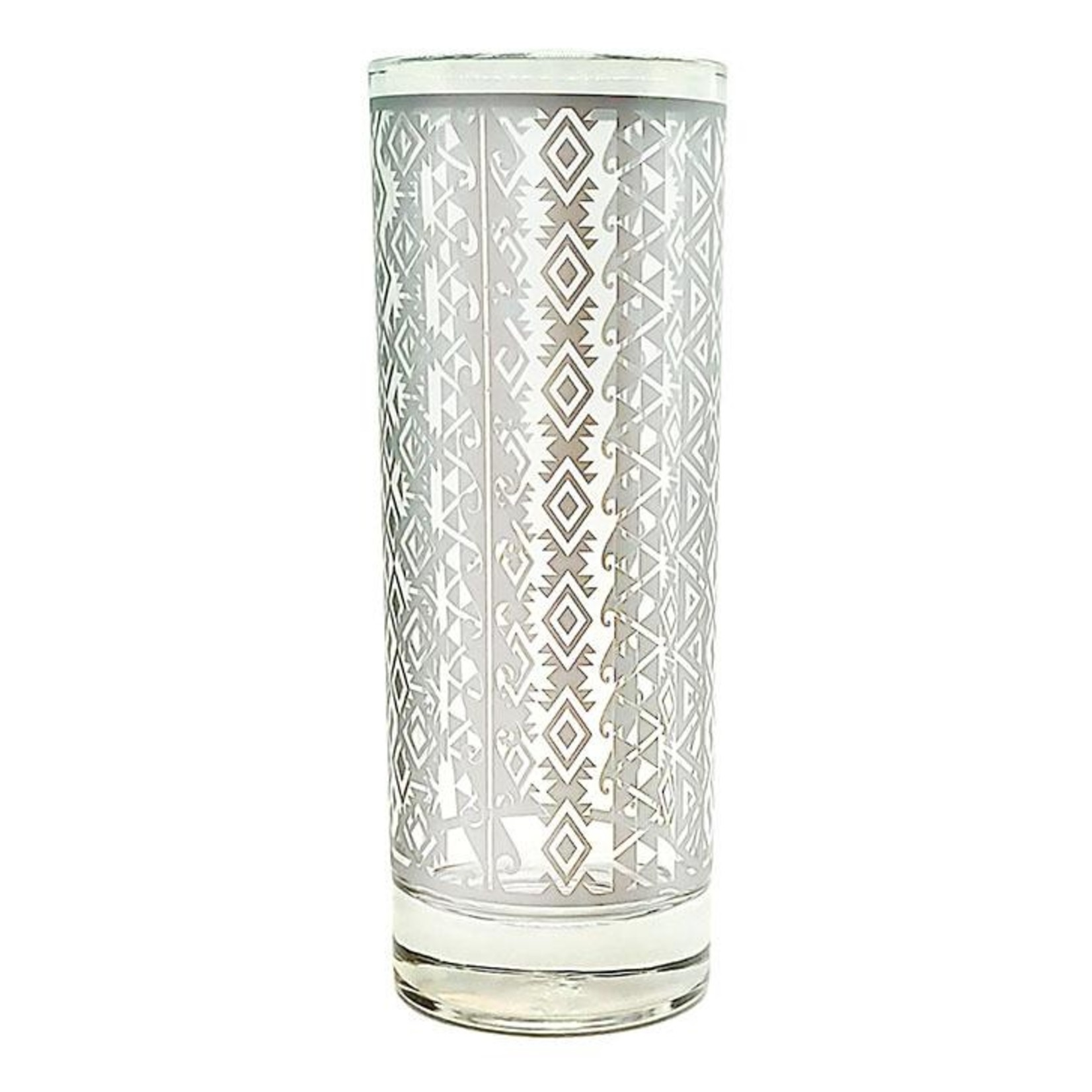 Silver Aztec Collins Glass