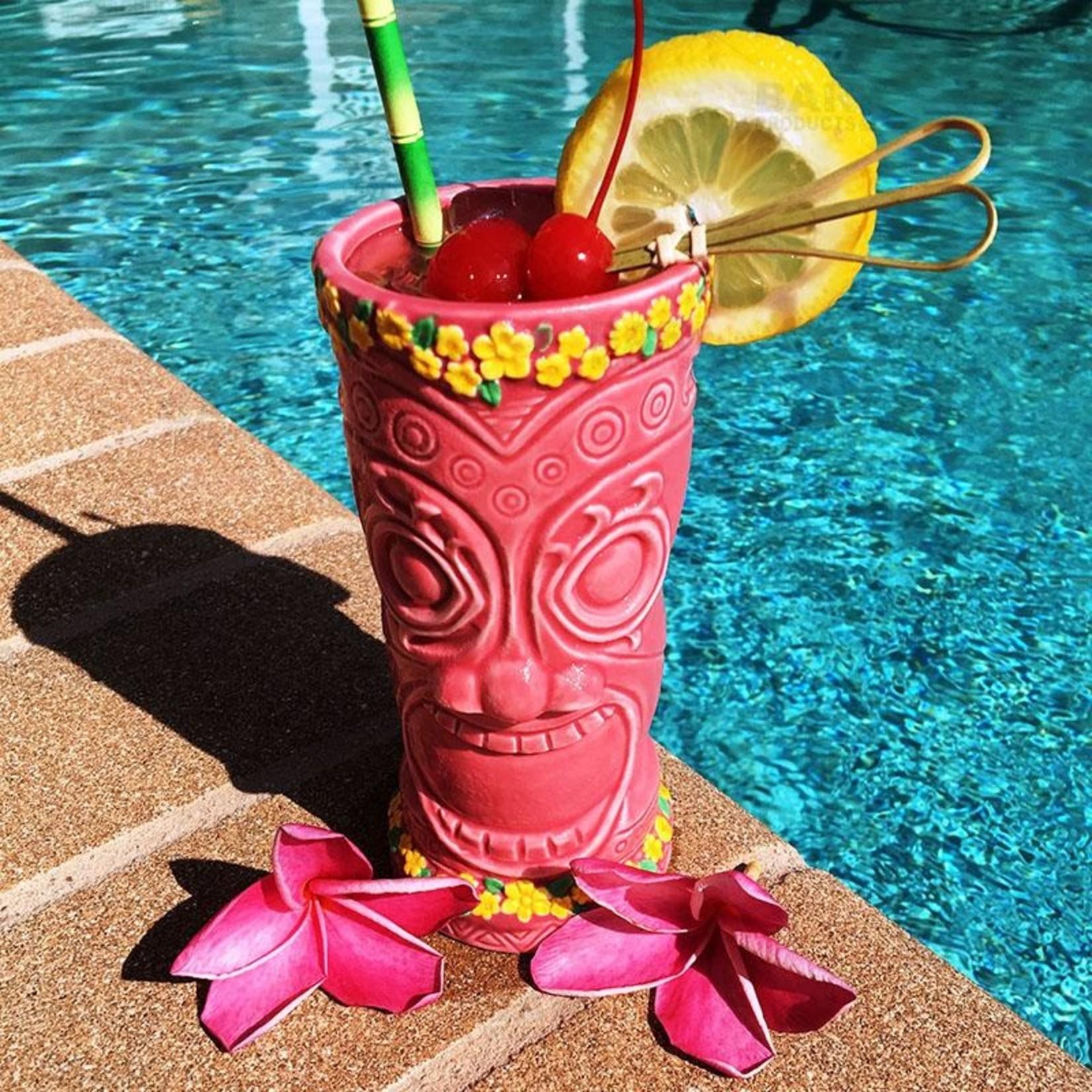 Pink Flower Goddess Tiki Mug