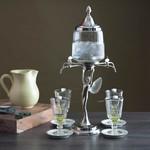Absinthe Fountain 4 Spout Fairy Silver