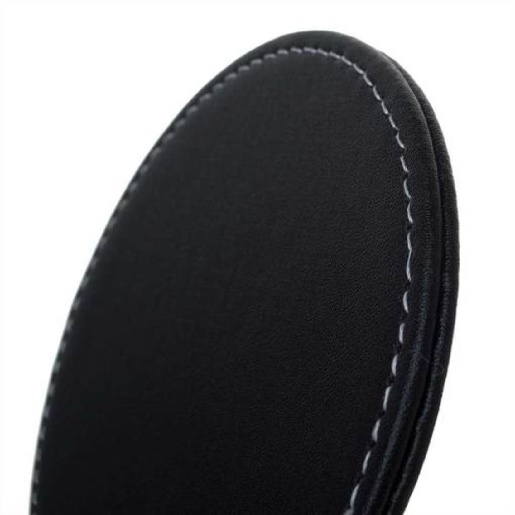 Modern Drunkard Tiger Whiskey Black Leatherette Coasters