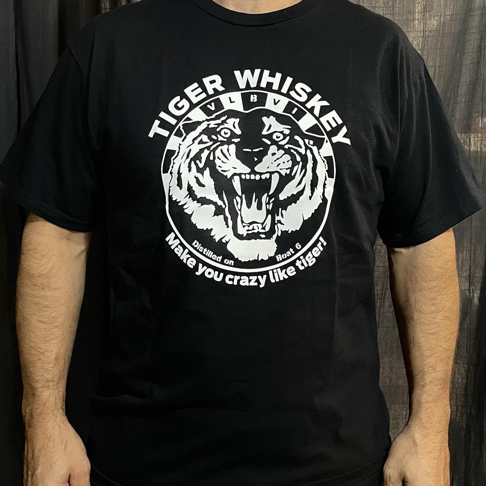 Modern Drunkard Roaring Tiger Whiskey T-Shirt Black