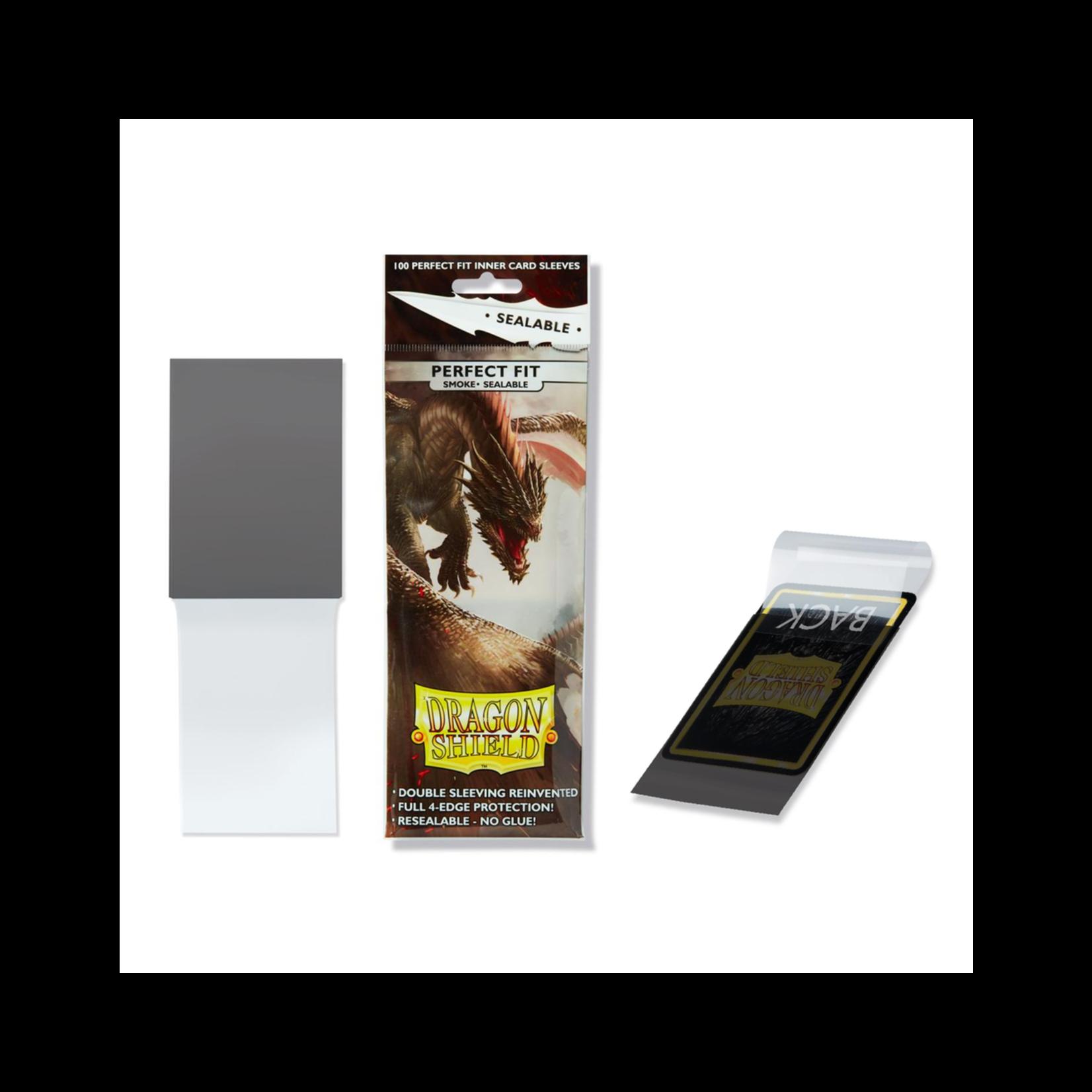 ARCANE TINMEN Dragon Shields Perfect Fit Sealable: (100) Smoke