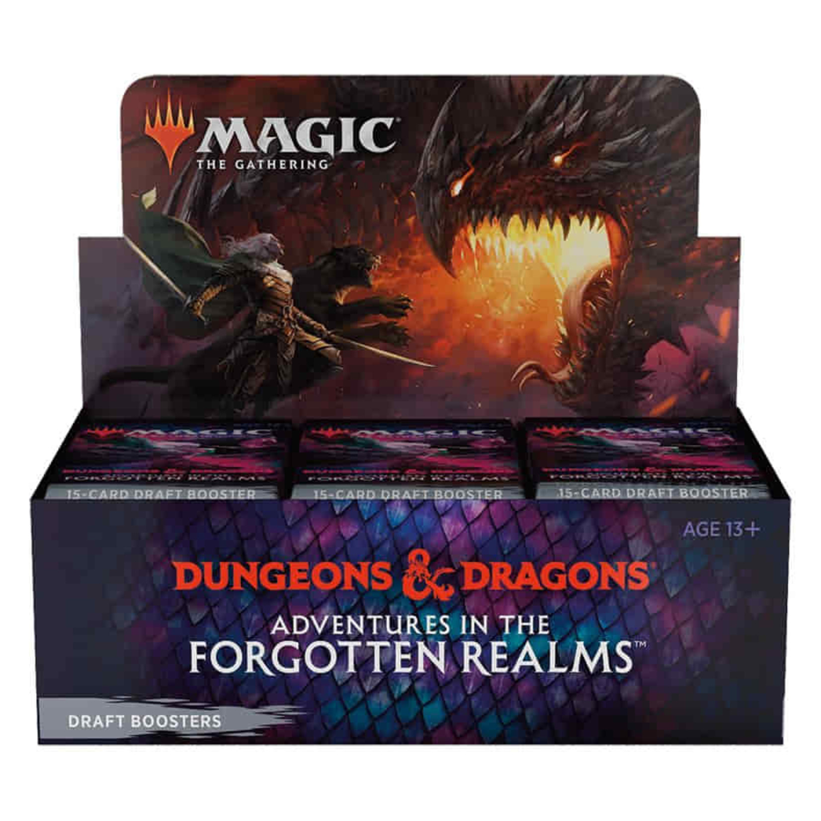 Wizards of the Coast Adventures in the Forgotten Realms Draft Booster Display