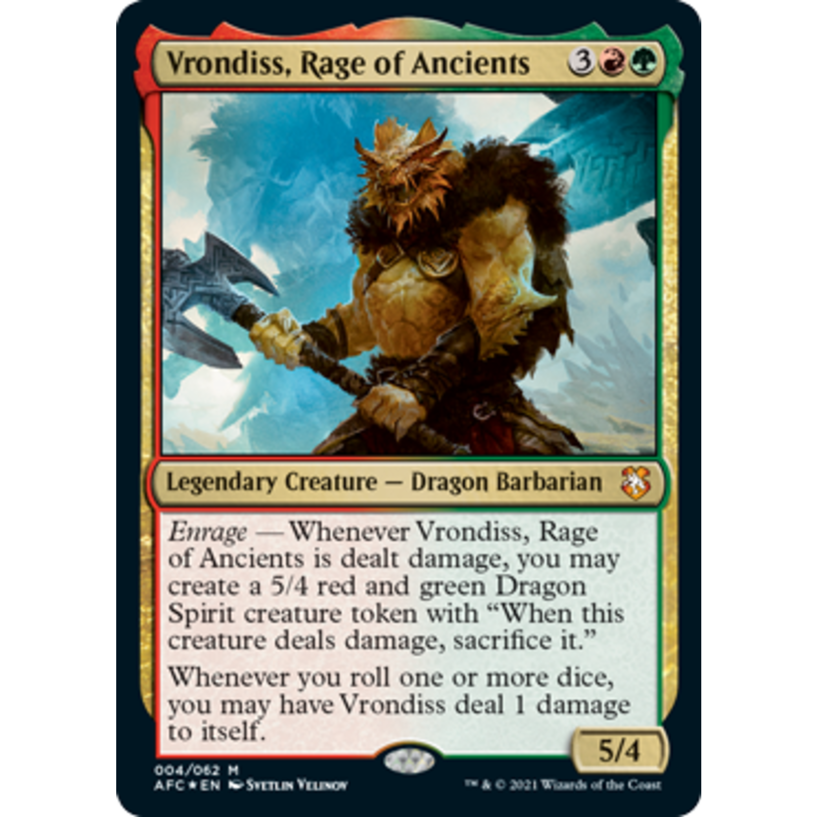 Wizards of the Coast Adventures in the Forgotten Realms Commander Deck
