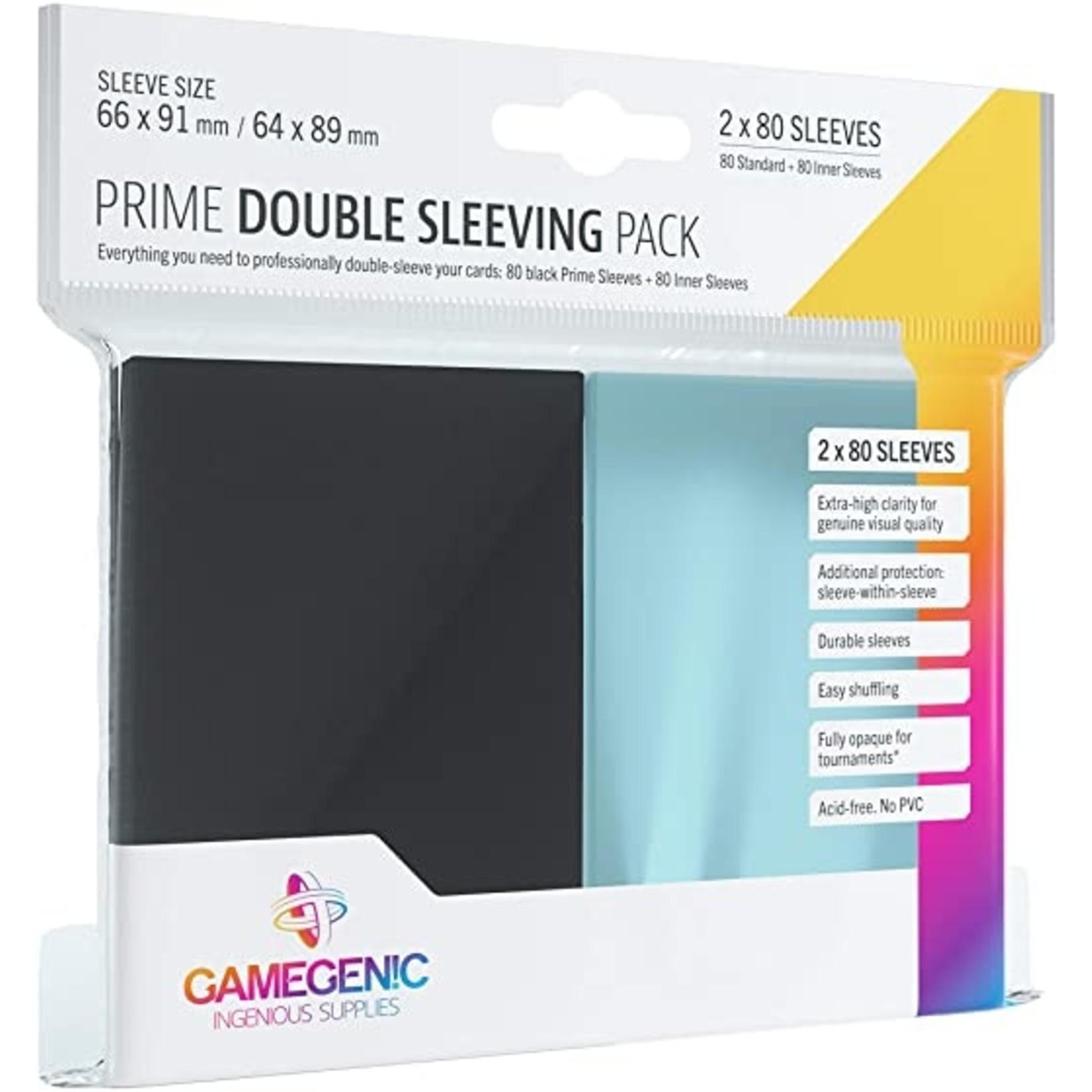 Prime Card Sleeves: Double Sleeving Pack Black