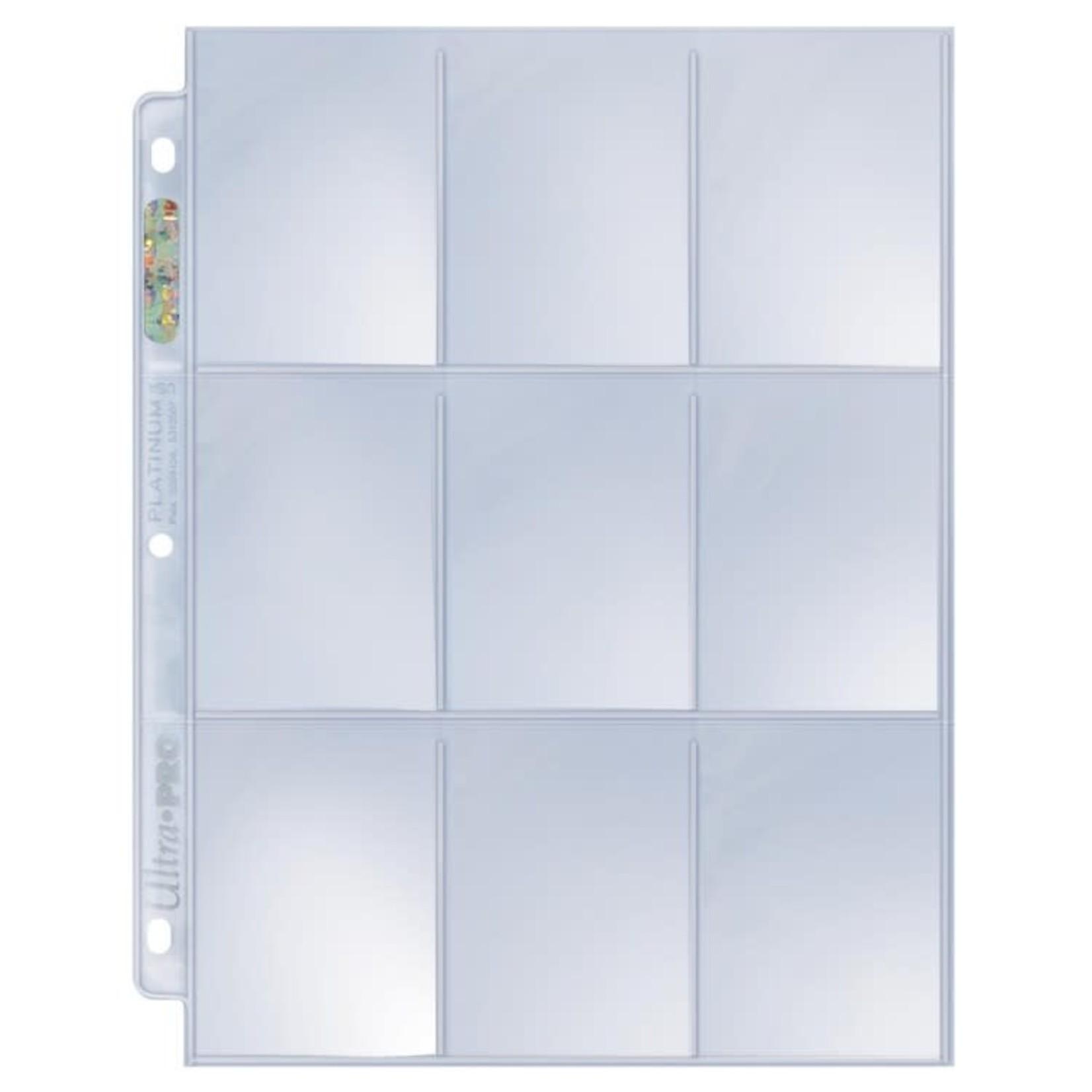 Ultra Pro Platinum Series: 9 Pocket Pages Box (100ct)