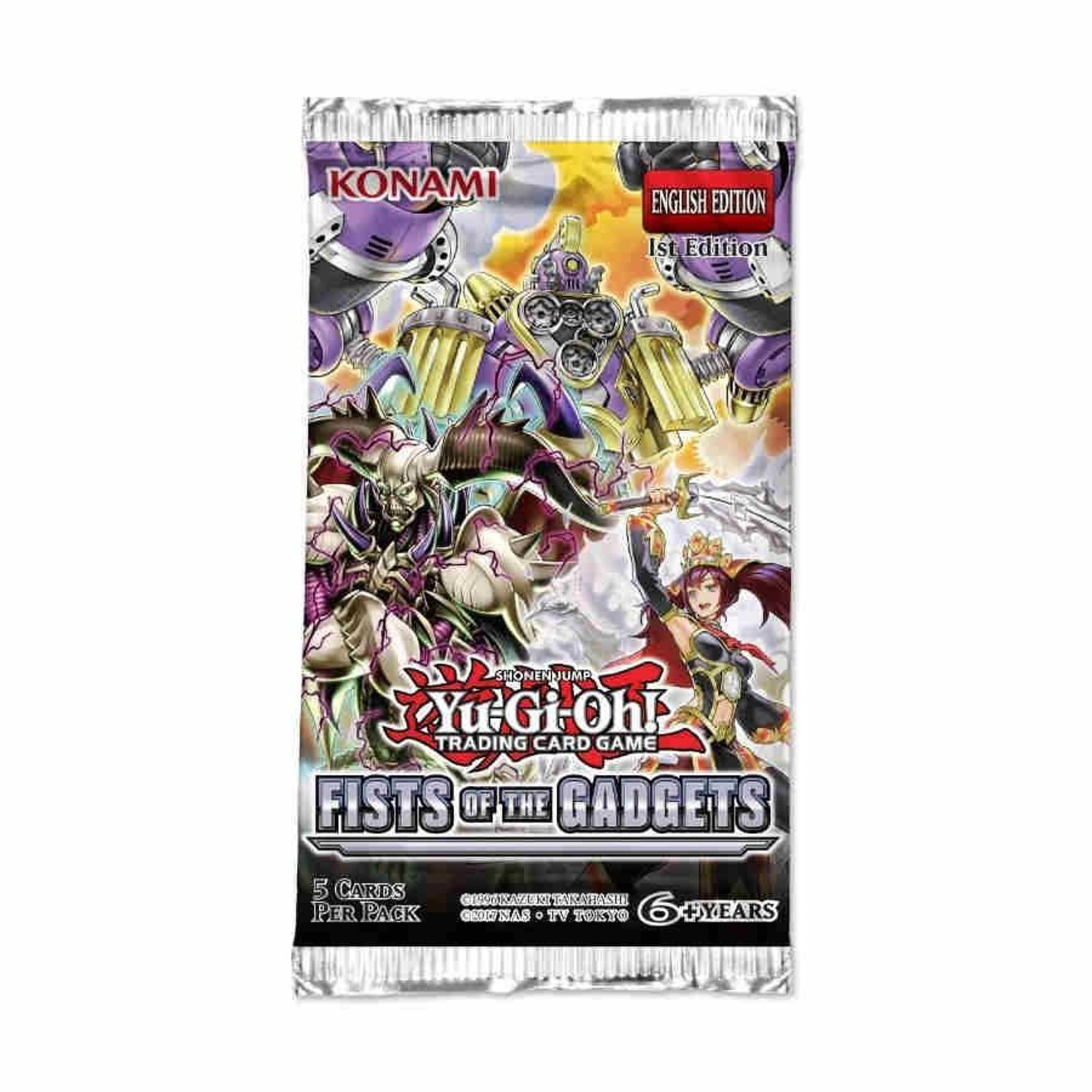 Konami Yu-Gi-Oh! TCG: Fists of the Gadgets Booster Pack