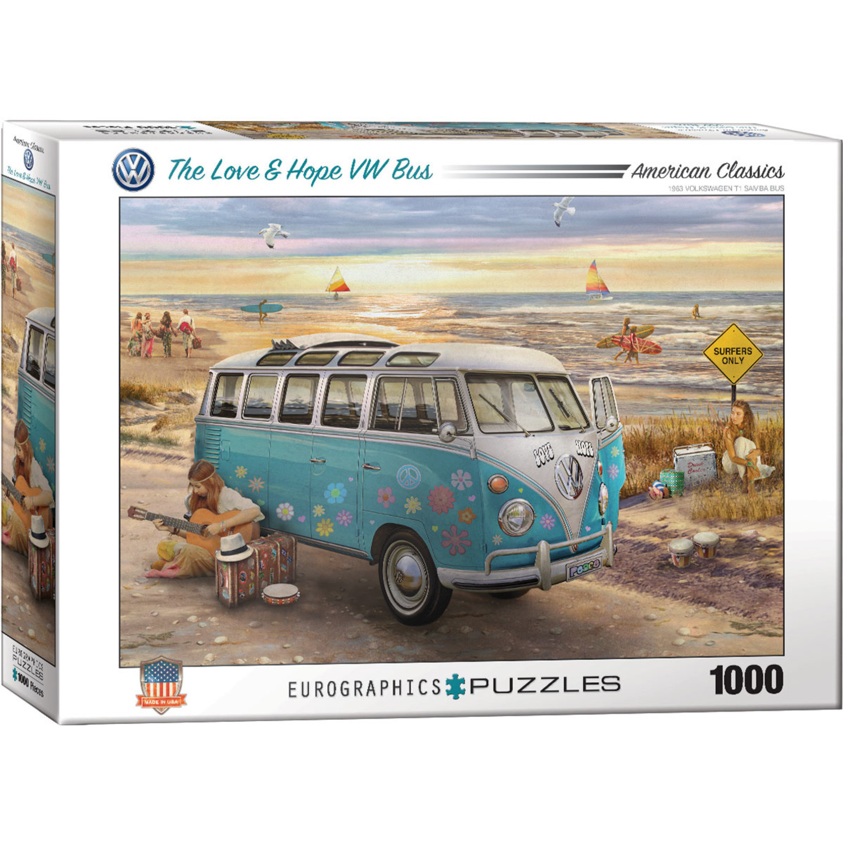 EuroGraphics Puzzles The Love & Hope VW Bus 1000 Pc