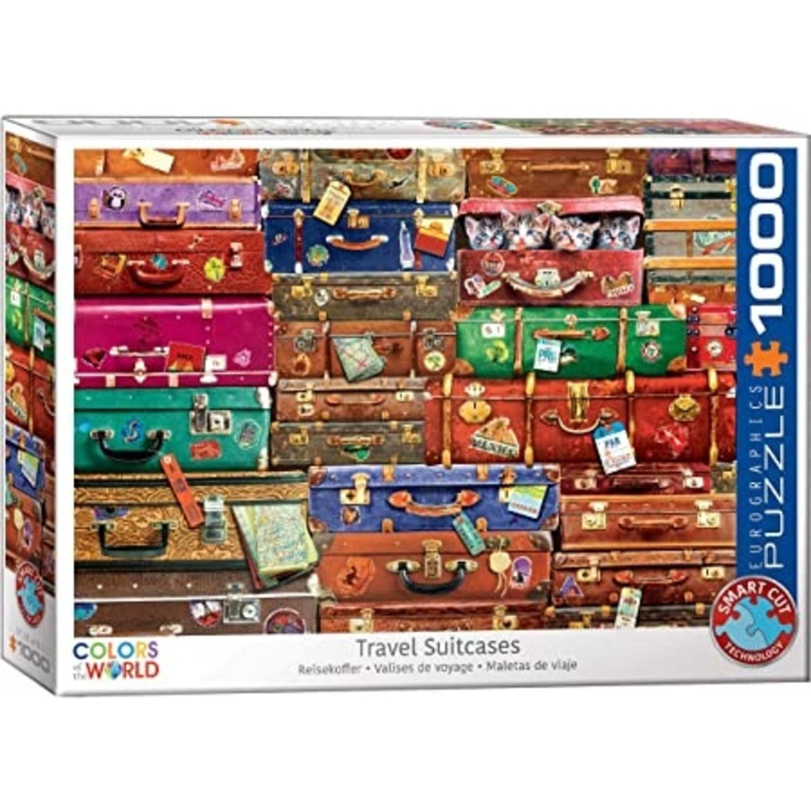 EuroGraphics Puzzles Travel Suitcases 1000 Pc