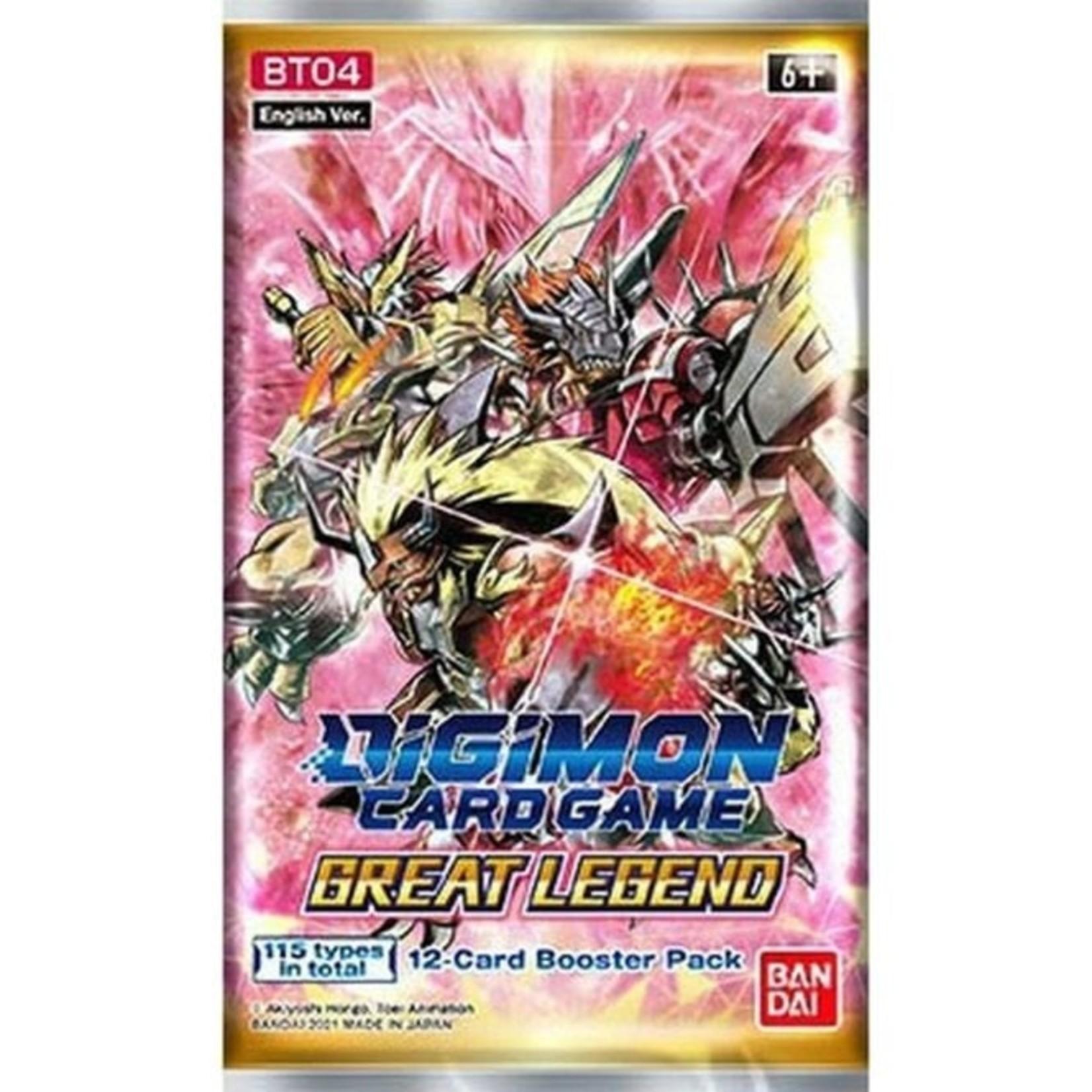 Bandai America, Inc. Digimon TCG: Great Legend Booster Pack