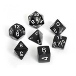 Chessex Opaque Polyhedral Set Black with White