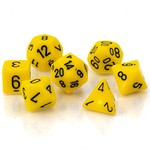 Chessex Opaque Polyhedral Set Yellow with Black