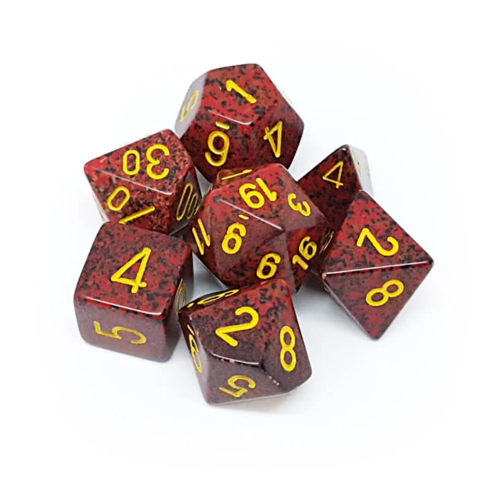 Chessex 25323 Speckled Polyhedral Set Mercury