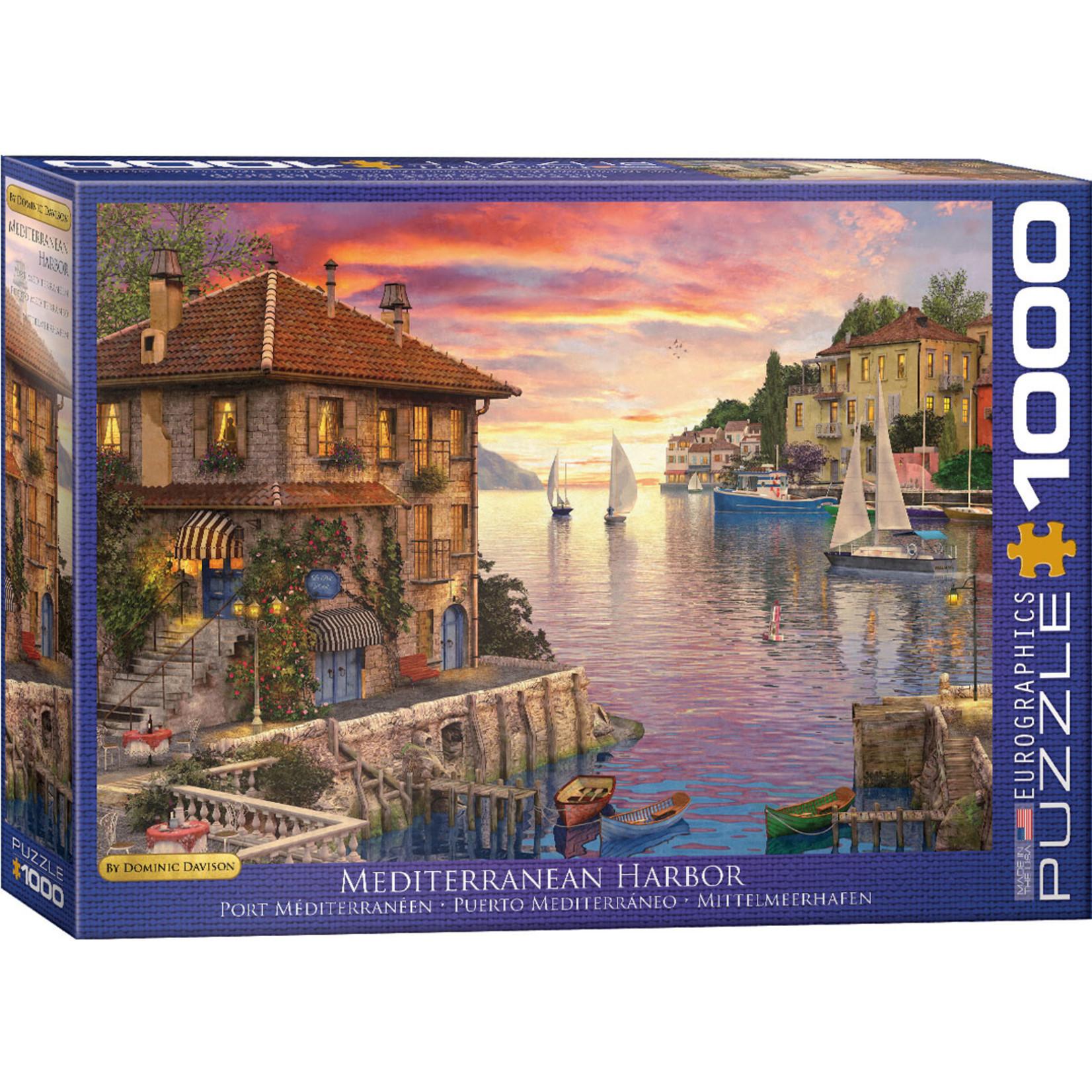 EuroGraphics Puzzles Mediterranean Harbor 1000pc