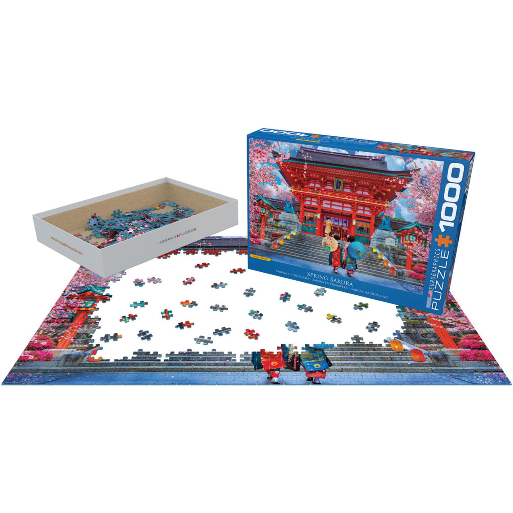 EuroGraphics Puzzles Spring Sakura Asia House 1000pc