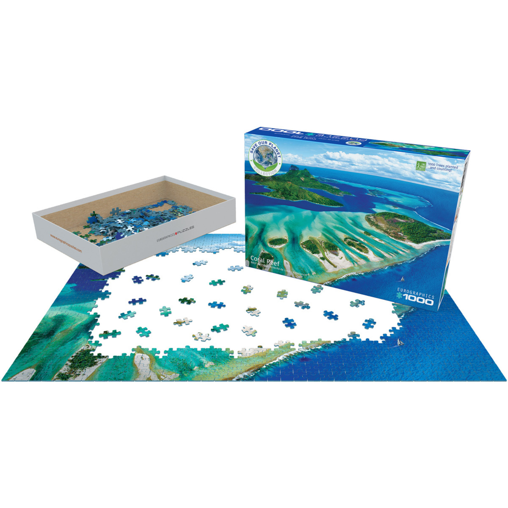 EuroGraphics Puzzles Coral Reef 1000pc