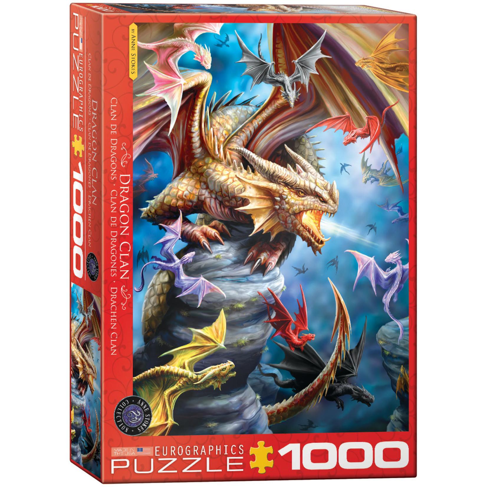 EuroGraphics Puzzles Dragon Clan 1000pc